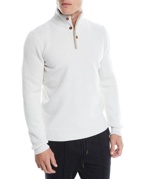 Ermenegildo Zegna Men's Wool-Cashmere Pullover Sweater