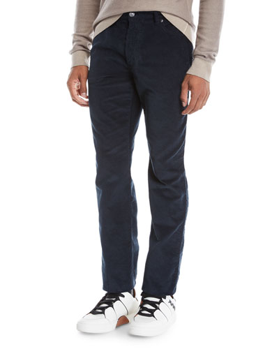 Men's Wide-Wale Corduroy Pants, Navy