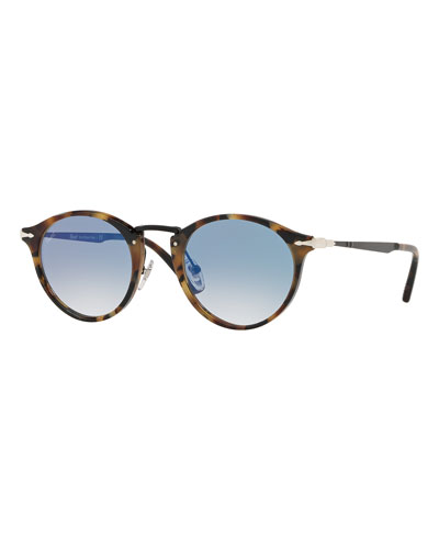 Calligrapher Edition PO3166S Round Acetate Sunglasses