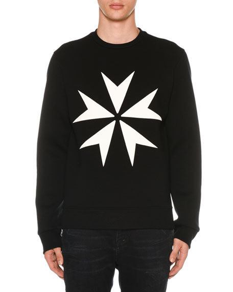Men's Military Star Sponge Sweatshirt