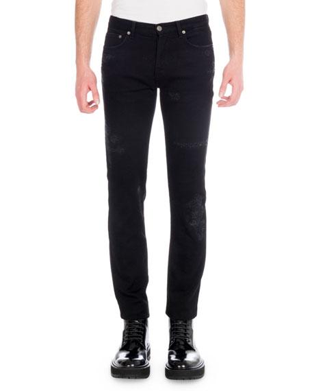 Givenchy Men's Destroyed Denim Skinny Jeans