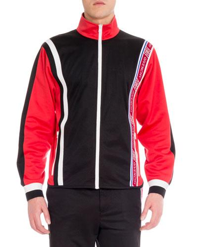 Men's Colorblock Zip-Front Track Jacket
