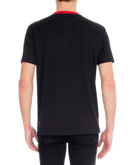 Men's Cotton T-Shirt w/ Contrast Collar