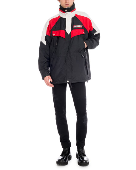 Men's Colorblock Wind-Resistant Jacket