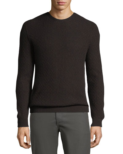 Men's Chainlink-Knit Cashmere Sweater
