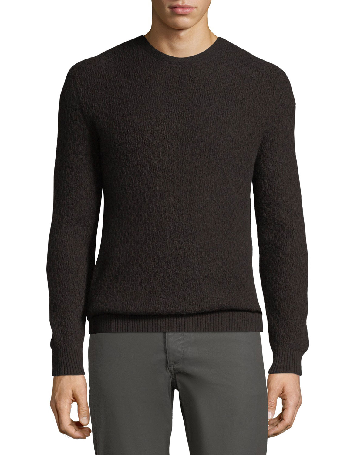 Loro Piana Men's Chainlink-Knit Cashmere Sweater