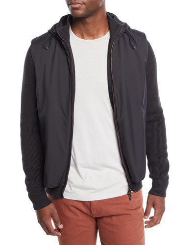 Men's Limestone Hooded Bomber Jacket