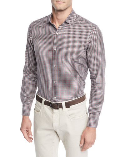 Men's Flannel Check Sport Shirt