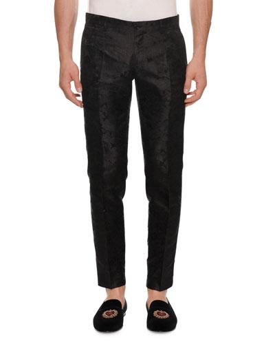 Men's Jacquard Slim Trousers
