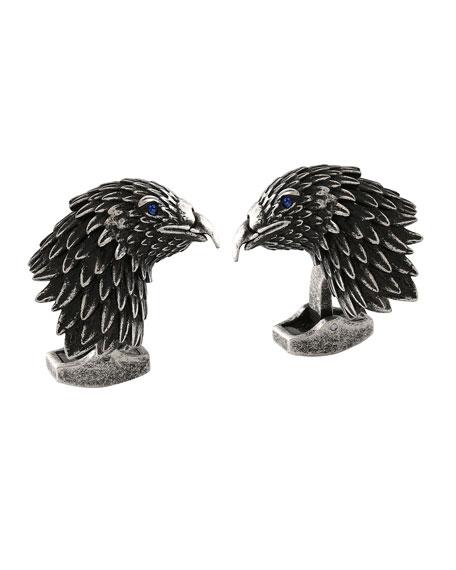 Tateossian Eagle Cuff Links w/ Crystals