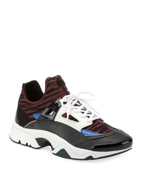 Men's Sonic Nylon Sneakers with Leather Trim