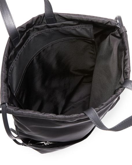 Men's Logo Typographic Drawstring Sling Backpack