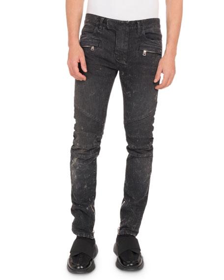 Balmain Men's Droit Classic Biker Jeans