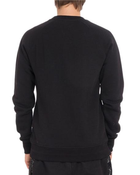Men's Logo Crewneck Raglan Cotton Sweatshirt
