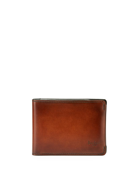 BERLUTI MEN'S ESSENTIAL ESSENCE LEATHER BILLFOLD WALLET