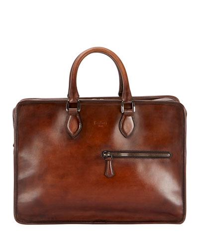 Men's Deux Jours Venezia Leather Briefcase