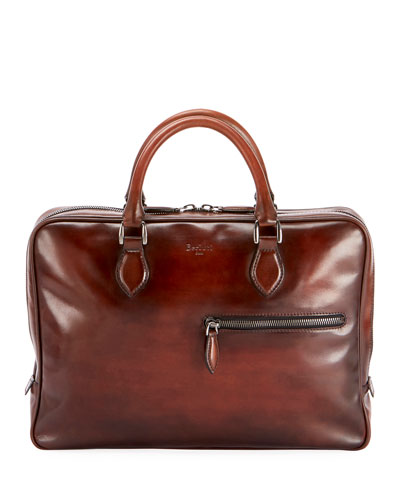 Men's Venezia Mogano Leather Briefcase