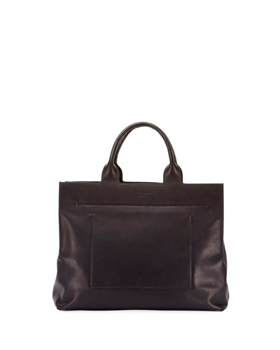 Men's Cabas Leather Tote Bag