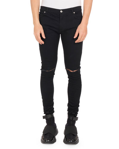 Men's Ultra Skinny Destroyed Jeans