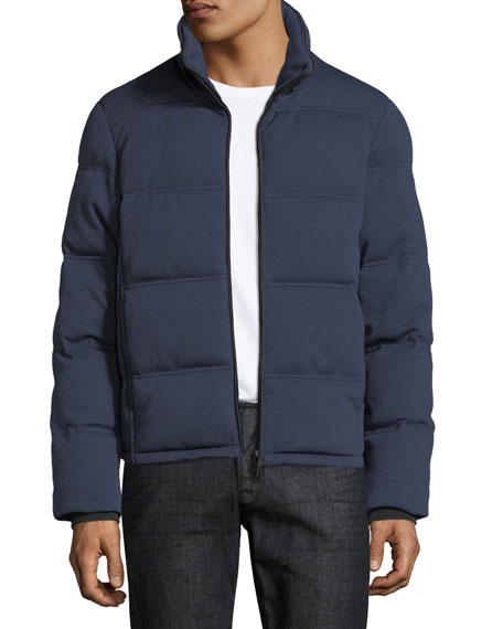 Men's Quilted Yarn-Dyed Puffer Jacket