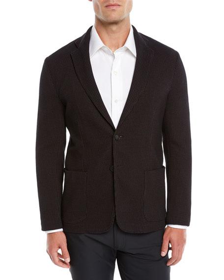 Men's Soft 3D Jersey Two-Button Blazer Jacket