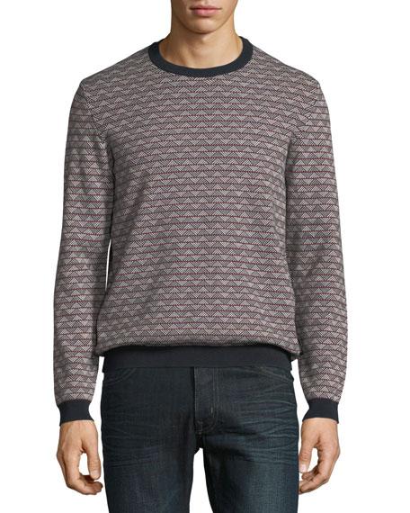 Emporio Armani Men's Geometric-Knit Jacquard Sweater