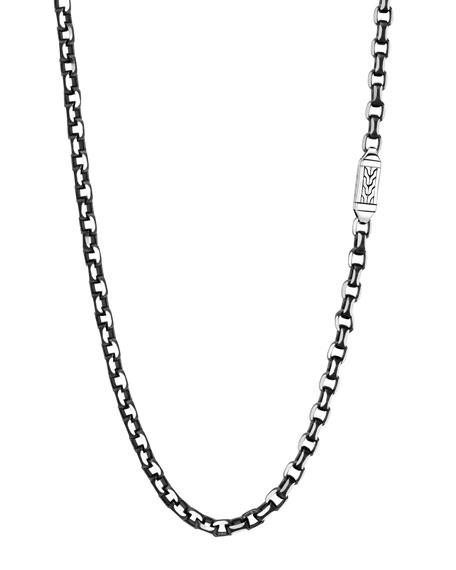 John Hardy Men's Classic Chain Necklace, 5.6mm, Black