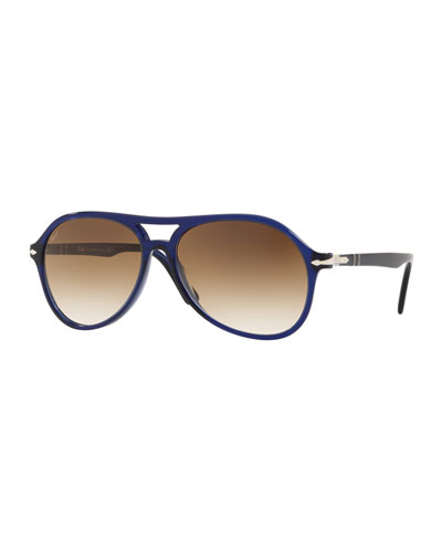 Men's PO3194S Propionate Aviator Sunglasses - Gradient Lenses
