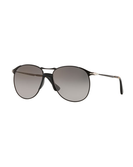 Persol Men's PO2649S Metal Aviator Sunglasses - Polarized