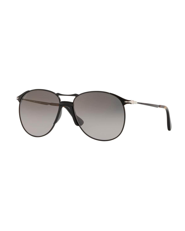 9eb510c6a1 Persol Men s PO2649S Metal Aviator Sunglasses - Polarized Lenses ...