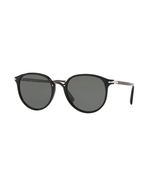 cfb4e52bc8 PersolMen s PO3210S Oval Acetate Keyhole Sunglasses - Polarized Lenses