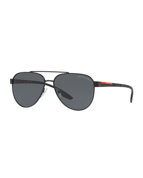 Men's Metal Aviator Sunglasses - Solid Lenses