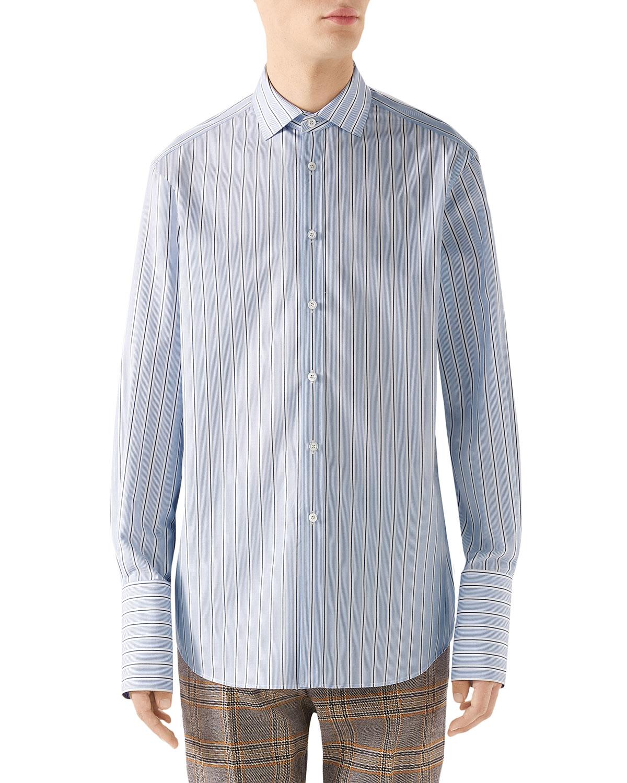 6894bdd2d39 Gucci Men s 70s-Striped Poplin Shirt