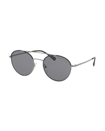 Men's Polarized Round Phantos Aviator Sunglasses