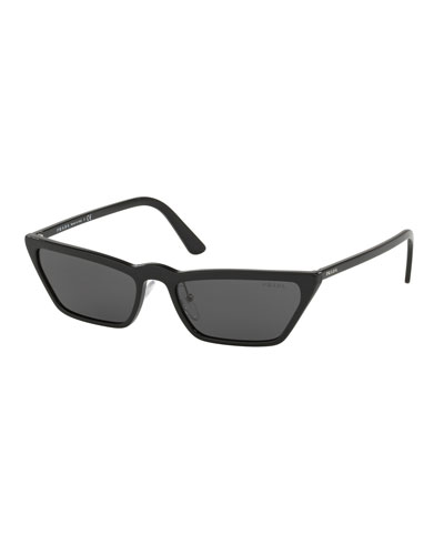 Men's Slim Acetate Cat-Eye Sunglasses