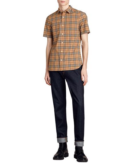 Alexander Check Short-Sleeve Sport Shirt