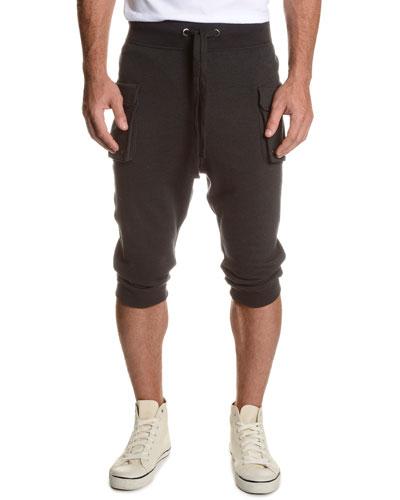 Camo-Print Cargo Cropped Pants