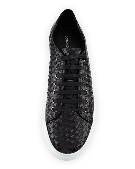 Alto Men's Textured Leather Lace Up Sneakers