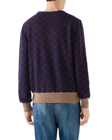 Men's Logo Jacquard Sweater