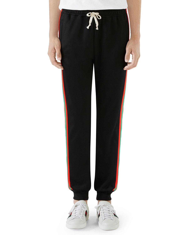 7079657235c9 Gucci Men s Cut   Sewn Side-Stripe Sweatpants