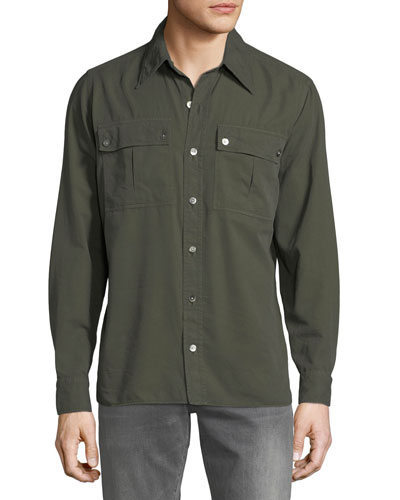 Men's Military Twill Dress Shirt