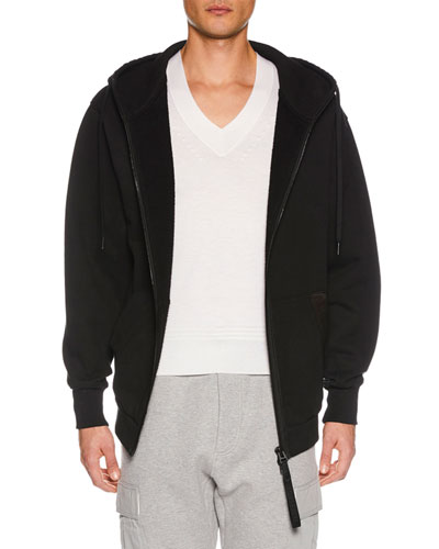 Men's Zip-Front Hoodie Sweatshirt, Black