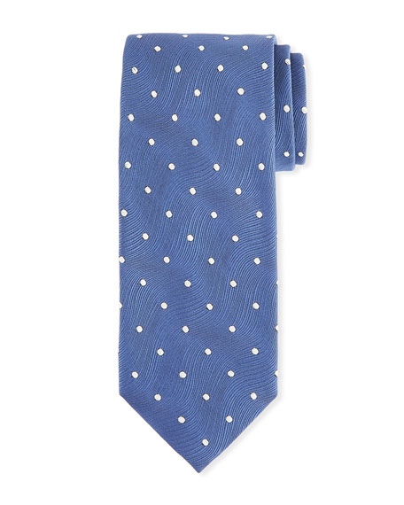 TOM FORD Men's Polka Dot Silk Tie