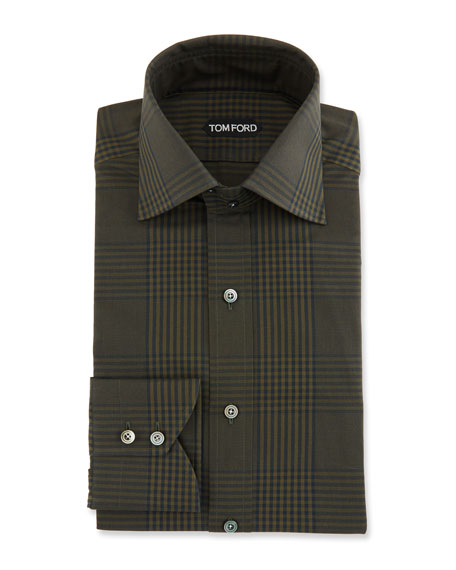 TOM FORD Men's Prince of Wales Plaid Dress