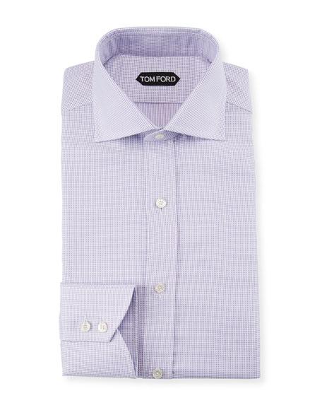 Men's Slim-Fit Check Dress Shirt