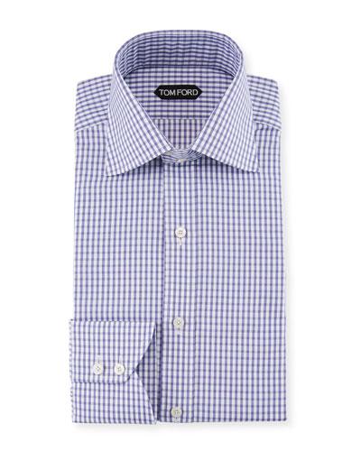 Men's Oversized-Check Dress Shirt