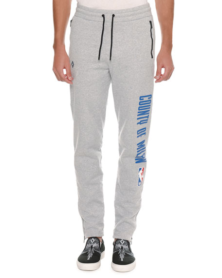 Marcelo Burlon Men's NBA Tapered-Leg Sweatpants