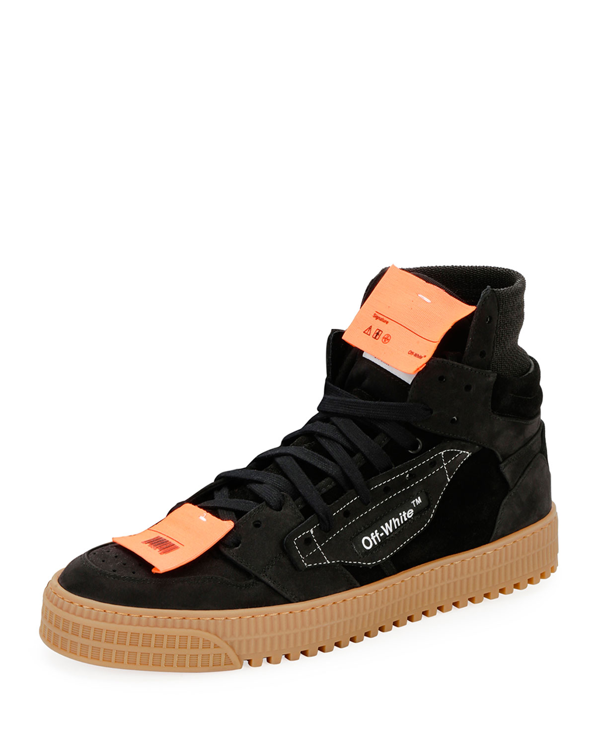 697df056bd7d Off-White Men s Off Court Suede High-Top Sneakers