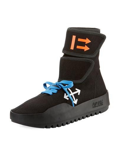 Men's MotoWrap Sneakers, Black
