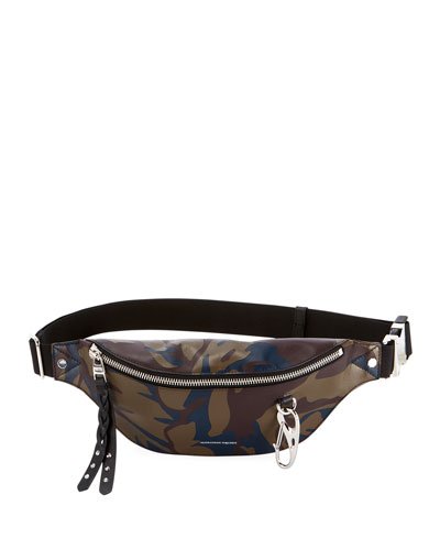 Harness Camo Leather Fanny Pack Bag